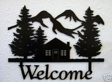 Cabin Lodge Decor Wilderness Welcome Sign