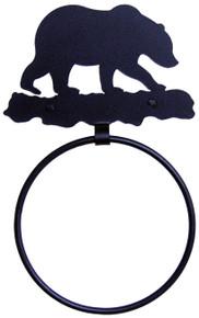 Bear Metal Art Towel Ring