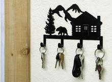 Bear Cabin Lodge Decor Key Holder