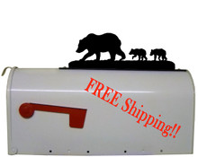 Bear and Cubs Mailbox Topper