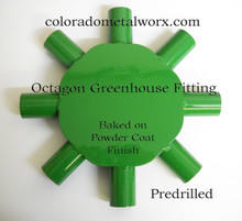 "Octagon greenhouse fitting  for 1-3/8"" tubing"