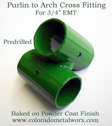 """Purlin to Arch  Cross Fitting for 3/4"""" EMT"""