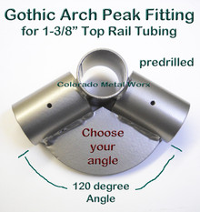 "Gothic Arch Peak Fitting for 1-3/8"" tubing"