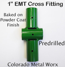"Greenhouse Cross Fitting for 1"" EMT"