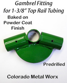 "Gambrel Fitting 145 degree for 1-3/8"" toprail tubing"