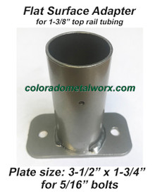 "Flat Surface Adapter for 1-3/8"" top rail"