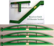 DIY GREEN BENDERS SET of 3 plus Receiver Hitch attachment