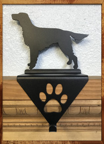 Irish Setter Metal Art Stocking Holder