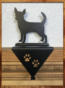 Chihuahua Metal Art Stocking Holder