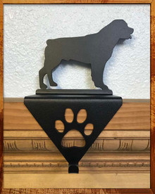 Rottweiler Metal Art Stocking Holder