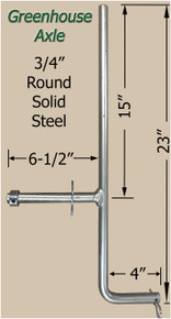 "Greenhouse Axle 3/4"" Solid Steel"
