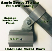 "Angle Brace Fitting for 1-3/8"" tubing"