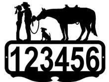 Western Romance Cowgirl and Cowboy  Custom Address Sign