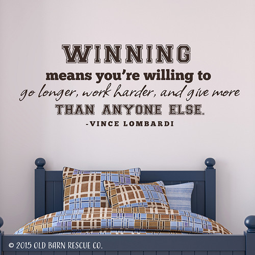 Winning means - wall decal