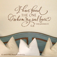 I have found the one my soul loves - wall decal