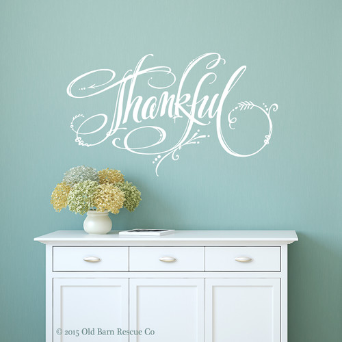 Thankful - wall decal