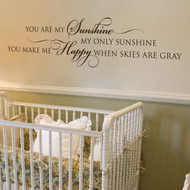 You are my sunshine - wall decal