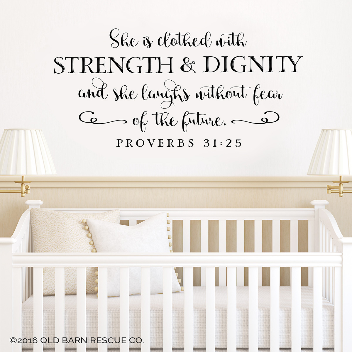 Christian Wall Words | Proverbs 31 | Wall Decals for Girls