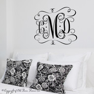 Monogram - wall decal
