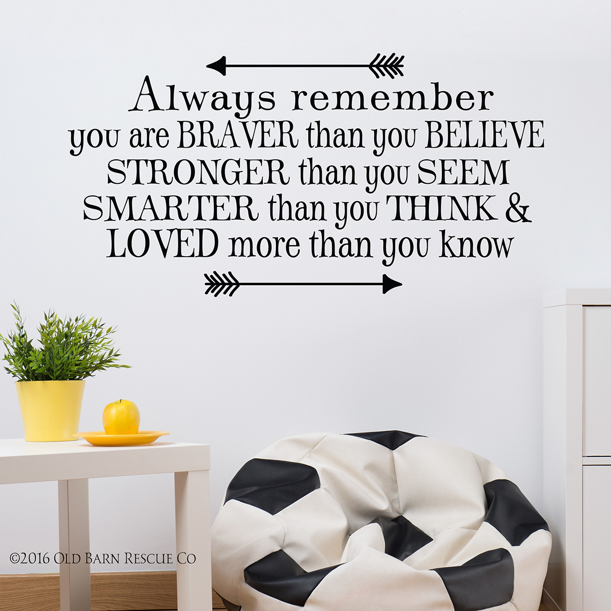 Kids Wall Decals | You are braver than you believe | horizontal