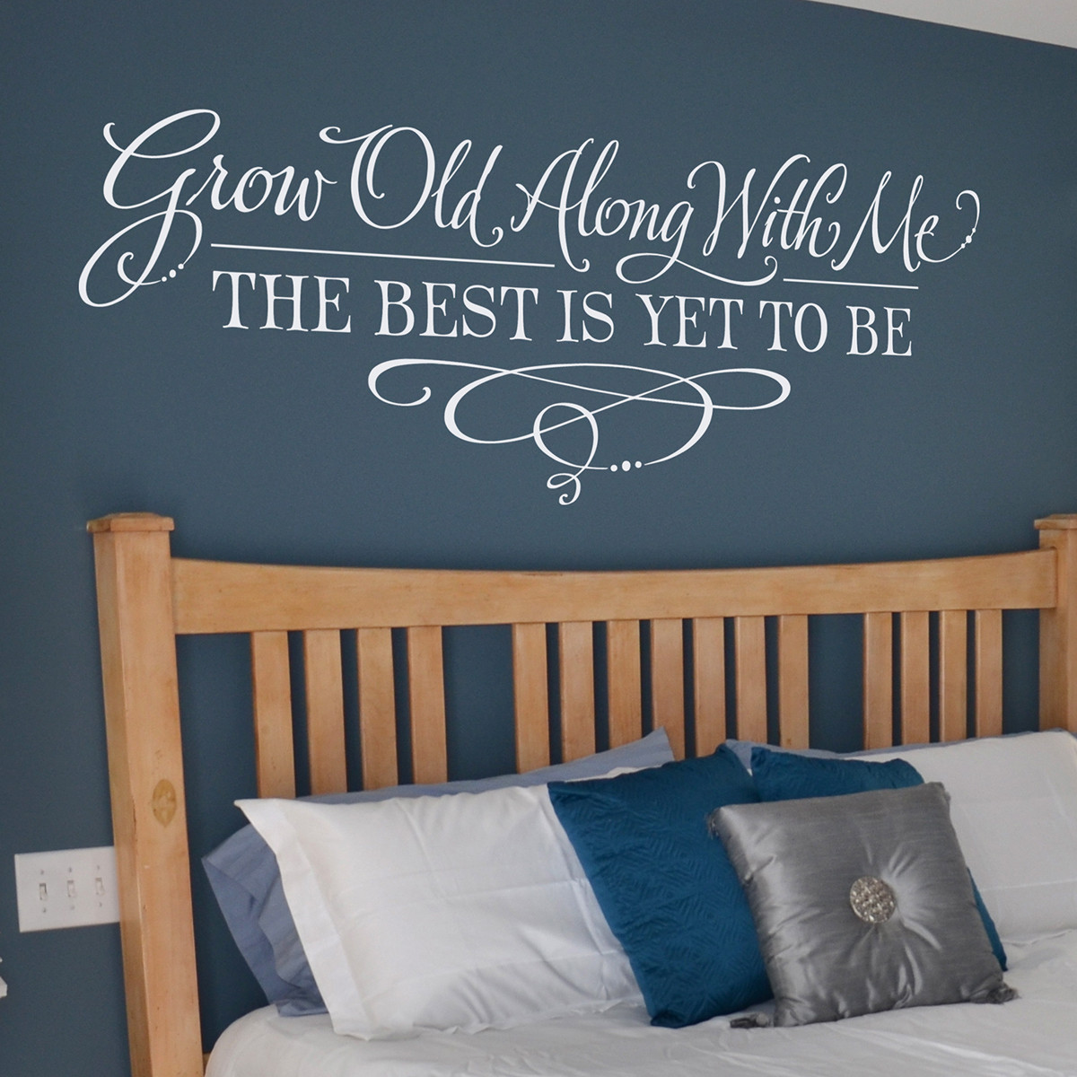 Grow Old With Me | Master Bedroom Wall Decals | Lettering Art