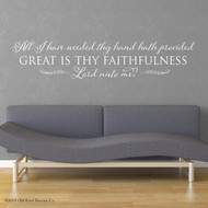 Great is Thy faithfulness wall art
