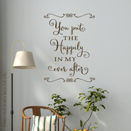 The Happily Ever After | Vinyl Decals | Bedroom Wall Art