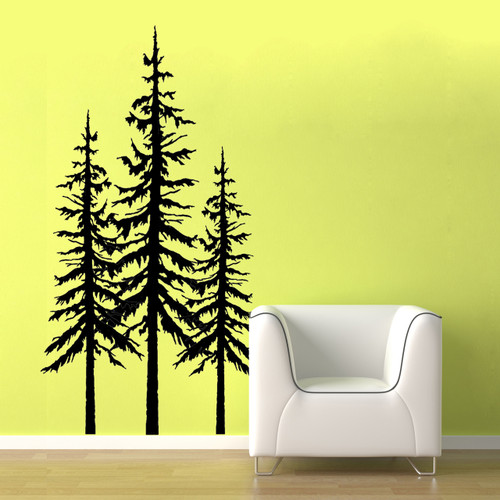 pine trees - wall decals
