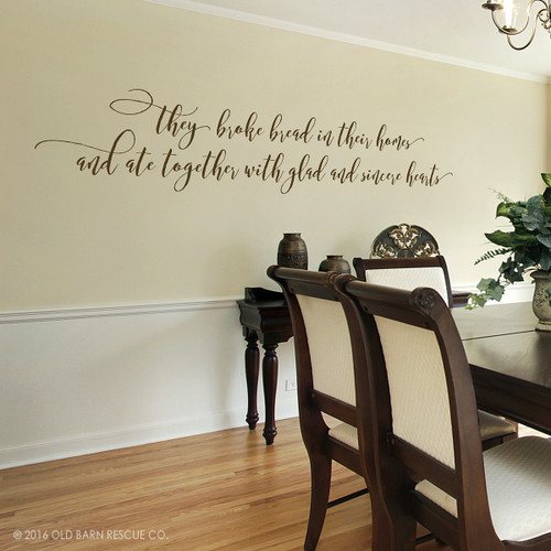 They broke bread - wall decal
