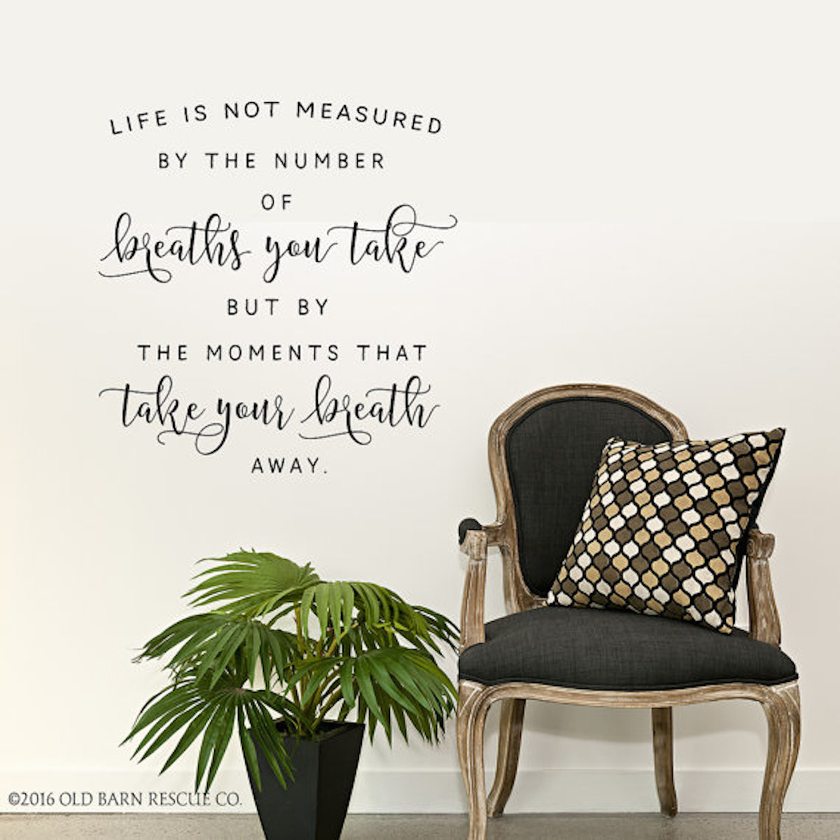 Life Is Not Measured By The Number Of Breaths Wall Decal Old