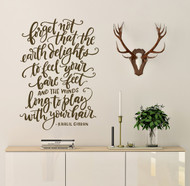 Outdoor quote - forget not wall decal
