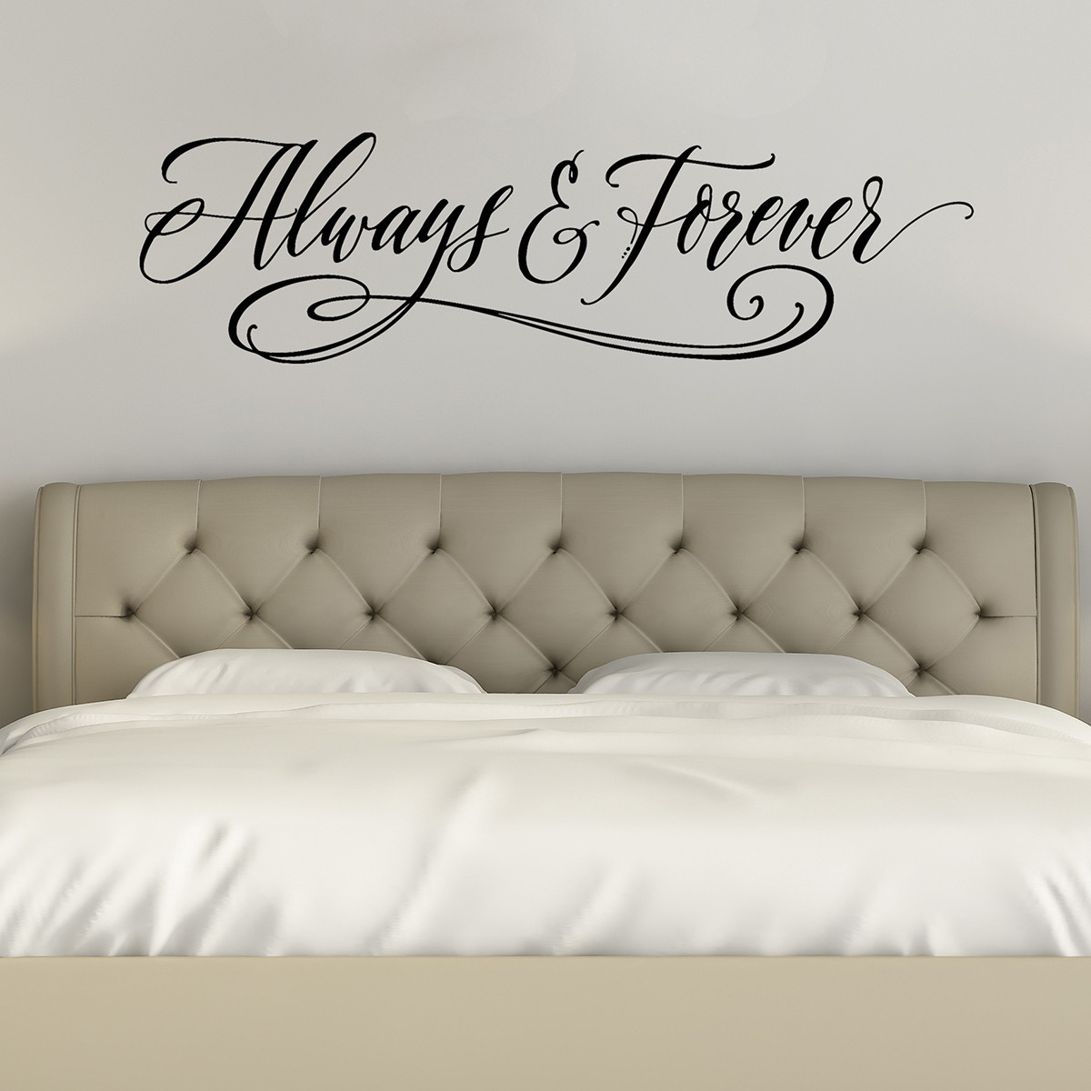 Always And Forever | Love Wall Decals | Bedroom Wall Art Quotes
