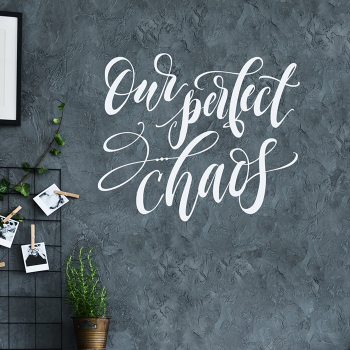Perfect Chaos   Vinyl Wall Decals   Inspirational Family Quotes