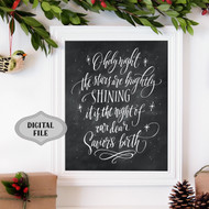 o holy night chalk print