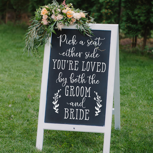 Pick a Seat Wedding Sign Decal