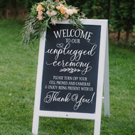 Welcome to our unplugged ceremony decal