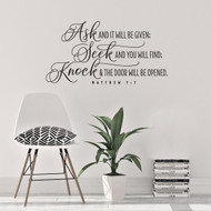 Ask, Seek, Knock Wall Decal
