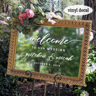 Welcome to our wedding decal