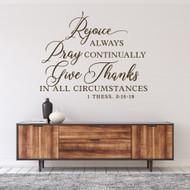 Rejoice Always Decal