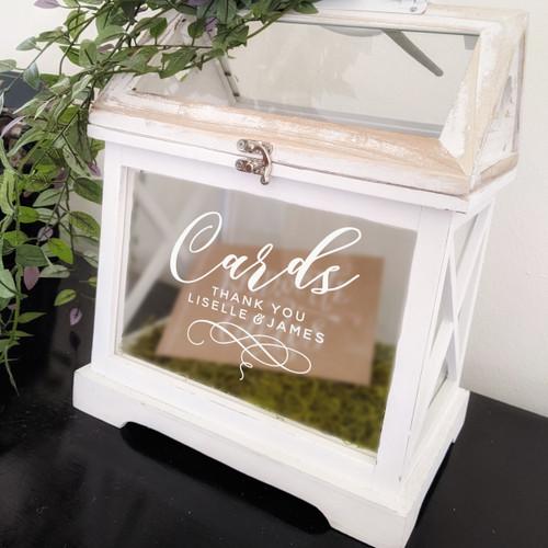 Wedding Card Box Custom Decal