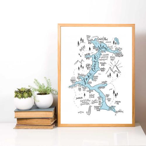 Lake Coeur d'Alene Map - Lifestyle