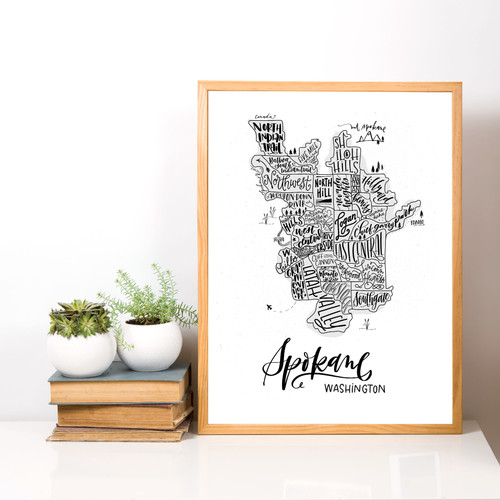 map of Spokane, WA - Lifestyle