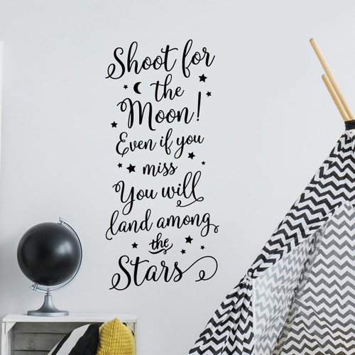 Shoot for the moon Vertical Wall Decal