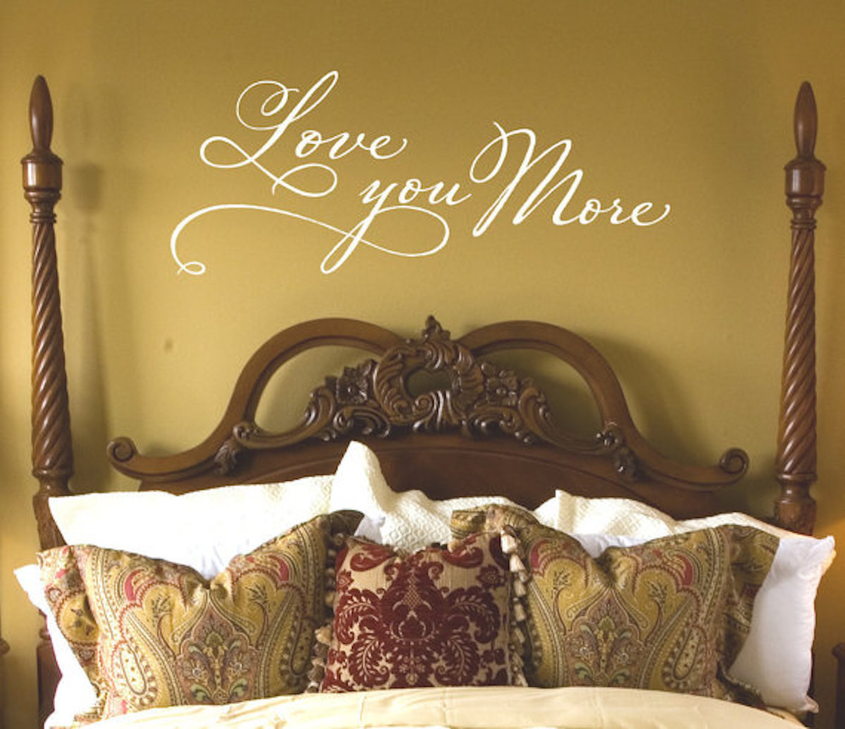 Love you more | Beautiful love quotes | bedroom wall art