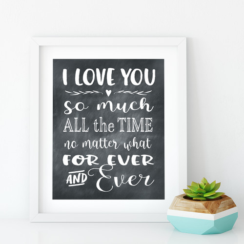 I love you so much Printable