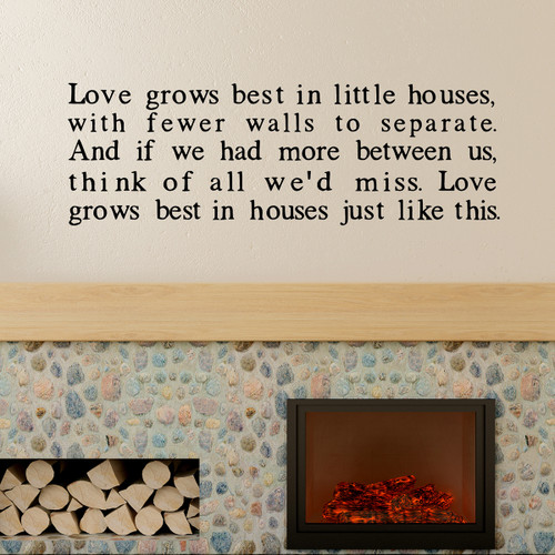 Love grows best type - wall decal