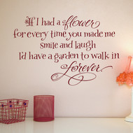 If I had a flower wall decal