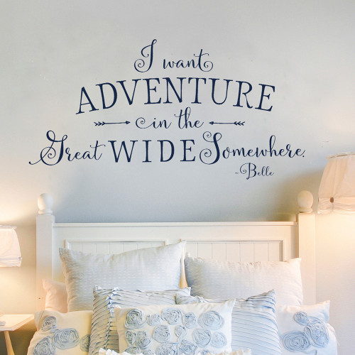 I want adventure Wall Decal