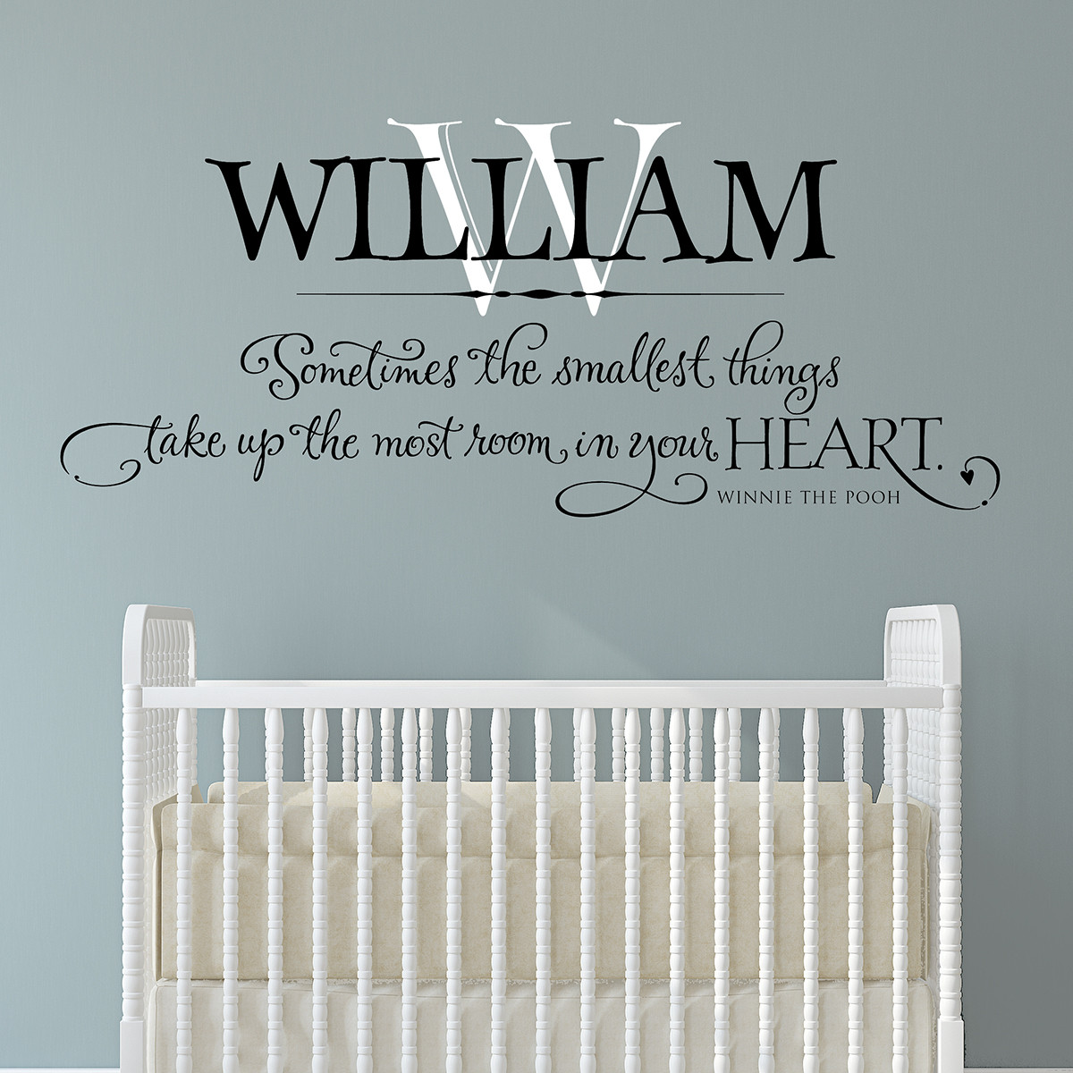 Winnie The Pooh Love Quotes Personalized Wall Art