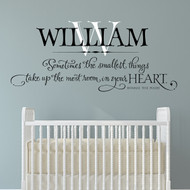 Sometimes the smallest personalized kids decal